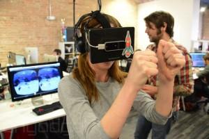 Oculus VR с сенсором Leap Motion