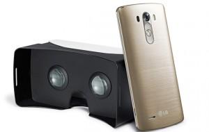 LG VR for G3 рядом с телефоном G3